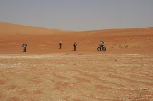 A trip with a difference: Fat Bike support in the Empty Quarter